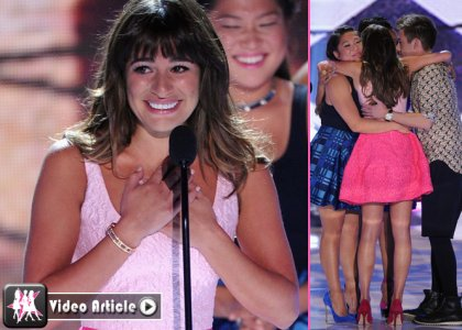 Lea Michele at the Teen Choice Awards 2013
